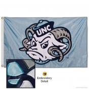 North Carolina Tar Heels Ramses Nylon Embroidered Flag