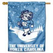 North Carolina Tar Heels Snowflake House Flag