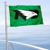 North Dakota Fighting Hawks Boat and Mini Flag
