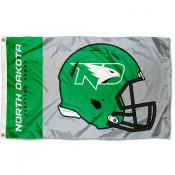 North Dakota Fighting Hawks Football Helmet Flag