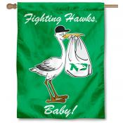 North Dakota Fighting Hawks New Baby Flag