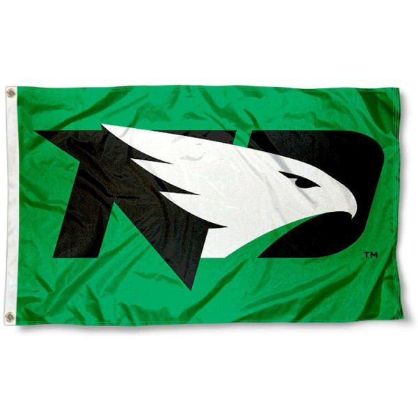 North Dakota Fighting Hawks New Logo Flag measures 3x5 feet, is made of 100% polyester, offers quadruple stitched flyends, has two metal grommets, and offers screen printed NCAA team logos and insignias. Our North Dakota Fighting Hawks New Logo Flag is officially licensed by the selected university and NCAA.