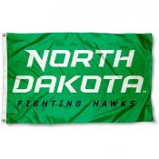 North Dakota Fighting Hawks New Wordmark Flag