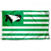 North Dakota Fighting Hawks Stripes Flag