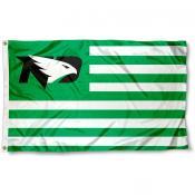 North Dakota Fighting Hawks Stripes Flag
