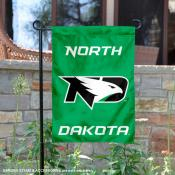 North Dakota Fighting Hawks Wordmark Logo Garden Flag