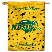 North Dakota State Bison Congratulations Graduate Flag