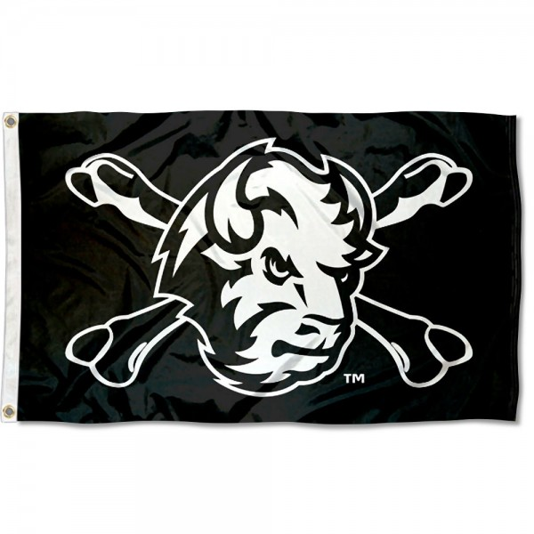 North Dakota State Bison Cross Bones Flag measures 3x5 feet, is made of 100% polyester, offers quadruple stitched flyends, has two metal grommets, and offers screen printed NCAA team logos and insignias. Our North Dakota State Bison Cross Bones Flag is officially licensed by the selected university and NCAA.