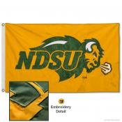 North Dakota State Bison Gold Nylon Embroidered Flag