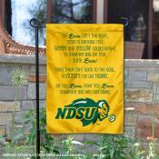 North Dakota State Bison On Bison Fight Song Garden Flag