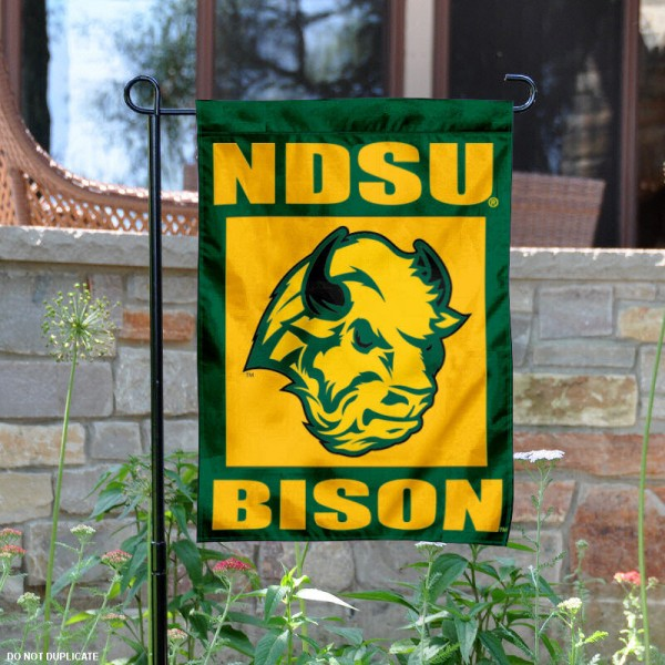 North Dakota State University Garden Flag is 13x18 inches in size, is made of 2-layer polyester, screen printed North Dakota State University athletic logos and lettering. Available with Same Day Express Shipping, Our North Dakota State University Garden Flag is officially licensed and approved by North Dakota State University and the NCAA.