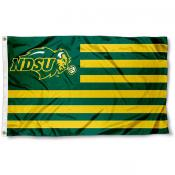 North Dakota State University Striped Flag