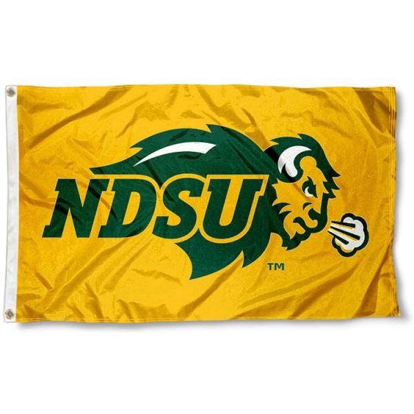 North Dakota State Yellow Flag measures 3'x5', is made of 100% poly, has quadruple stitched sewing, two metal grommets, and has double sided Team University logos. Our North Dakota State Yellow Flag is officially licensed by the selected university and the NCAA.