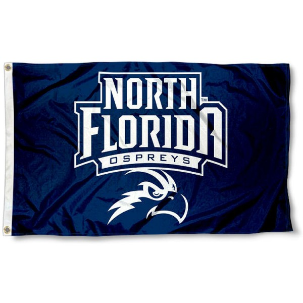 North Florida Ospreys New Logo Flag measures 3x5 feet, is made of 100% polyester, offers quadruple stitched flyends, has two metal grommets, and offers screen printed NCAA team logos and insignias. Our North Florida Ospreys New Logo Flag is officially licensed by the selected university and NCAA.