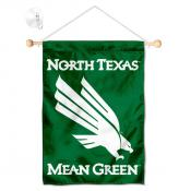 North Texas Mean Green Banner with Suction Cup