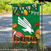 North Texas Mean Green Fall Football Autumn Leaves Decorative Garden Flag