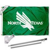 North Texas Mean Green Flag Pole and Bracket Kit