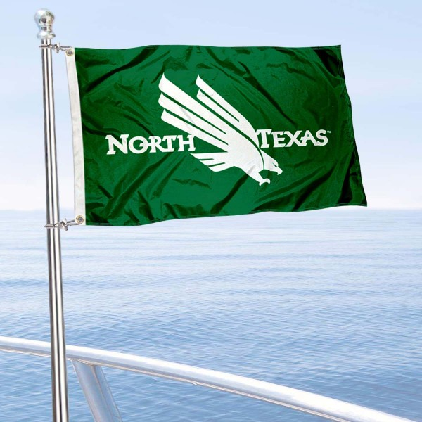 North Texas Mean Green Golf Cart Flag is a small 12x18 inches, made of 2-ply polyester with quad stitched flyends, and is double-sided. Our Golf Cart Logo Flags are Officially Licensed and Approved by University of North Texas and NCAA.