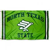 North Texas Mean Green Throwback Vault Logo Flag