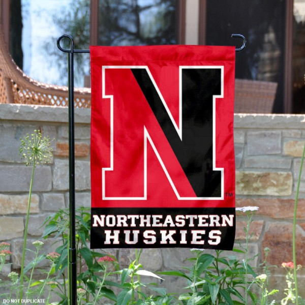 Northeastern Huskies Garden Flag is 13x18 inches in size, is made of 2-layer polyester, screen printed Northeastern Huskies athletic logos and lettering. Available with Same Day Express Shipping, Our Northeastern Huskies Garden Flag is officially licensed and approved by Northeastern Huskies and the NCAA.