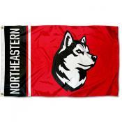 Northeastern Huskies New Husky Logo Flag