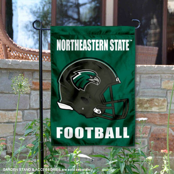 Northeastern State Riverhawks Helmet Yard Garden Flag is 13x18 inches in size, is made of 2-layer polyester with Liner, screen printed university athletic logos and lettering, and is readable and viewable correctly on both sides. Available same day shipping, our Northeastern State Riverhawks Helmet Yard Garden Flag is officially licensed and approved by the university and the NCAA.