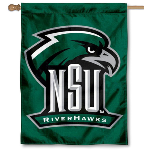 Northeastern State Riverhawks House Flag is a vertical House Flag which measures 30x40 inches, is made of 2 ply 100% polyester, offers screen printed NCAA team insignias, and has a top pole sleeve to hang vertically. Our Northeastern State Riverhawks House Flag is officially licensed by the selected university and the NCAA.