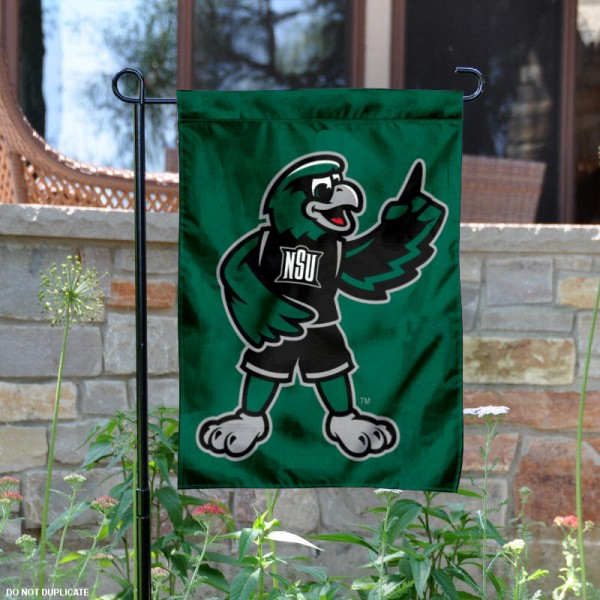 Northeastern State Rowdy the Riverhawk Garden Flag is 13x18 inches in size, is made of 2-layer polyester, screen printed university athletic logos and lettering. Available with Same Day Express Shipping, our Northeastern State Rowdy the Riverhawk Garden Flag is officially licensed and approved by the university and the NCAA.
