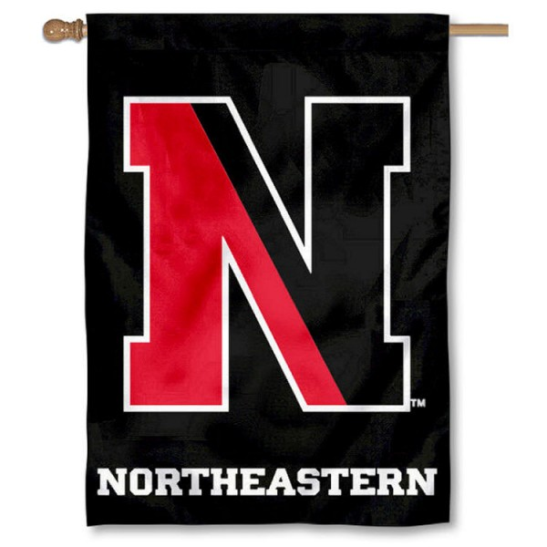 Northeastern University Double Sided Banner is a vertical house flag which measures 28x40 inches, is made of 2 ply 100% nylon, offers screen printed NCAA team insignias, and has a top pole sleeve to hang vertically. Our Northeastern University Double Sided Banner is officially licensed by the selected university and the NCAA.