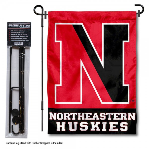 Northeastern University Garden Flag and Stand