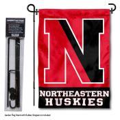 Northeastern University Garden Flag and Stand