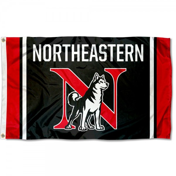Northeastern University New N Logo Flag is made of 100% nylon, offers quad stitched flyends, measures 3x5 feet, has two metal grommets, and is viewable from both side with the opposite side being a reverse image. Our Northeastern University New N Logo Flag is officially licensed by the selected college and NCAA