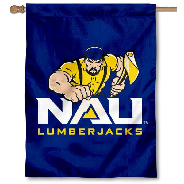Northern Arizona Lumberjacks House Banner is a vertical house flag which measures 30x40 inches, is made of 2 ply 100% polyester, offers screen printed NCAA team insignias, and has a top pole sleeve to hang vertically. Our Northern Arizona Lumberjacks House Banner is officially licensed by the selected university and the NCAA.