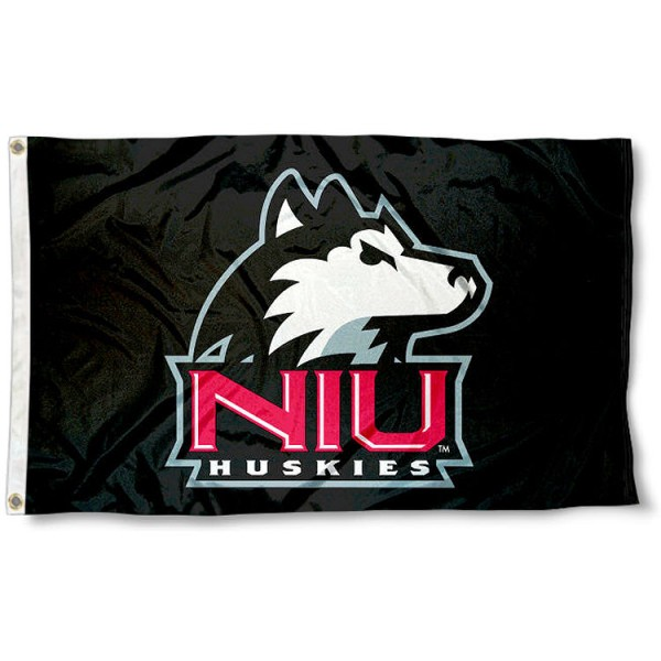 Northern Illinois Huskies Black Logo Flag measures 3'x5', is made of 100% poly, has quadruple stitched sewing, two metal grommets, and has double sided Northern Illinois University logos. Our Northern Illinois Huskies Black Logo Flag is officially licensed by the selected university and the NCAA.