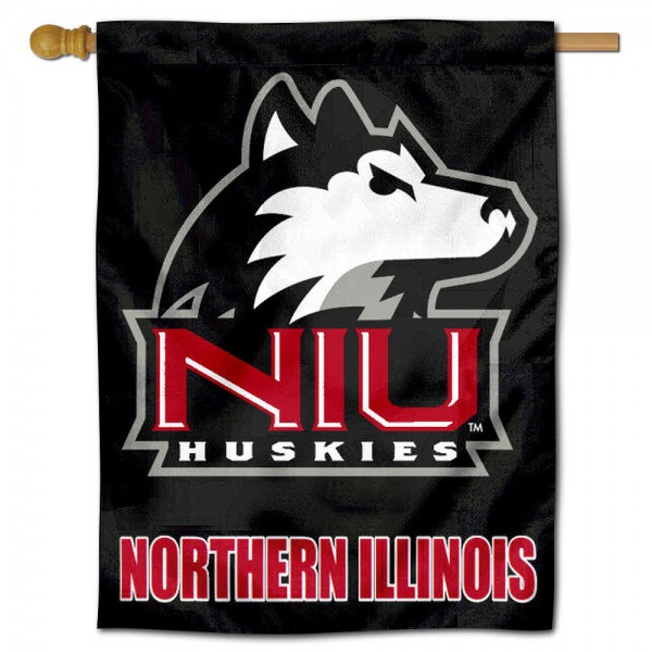 "Northern Illinois Huskies House Flag is constructed of polyester material, is a vertical house flag, measures 30""x40"", offers screen printed athletic insignias, and has a top pole sleeve to hang vertically. Our Northern Illinois Huskies House Flag is Officially Licensed by NIU Huskies and NCAA."