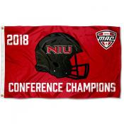 Northern Illinois Huskies MAC 2018 Football Champions Flag