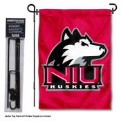 Northern Illinois Huskies Red Garden Flag and Pole Stand