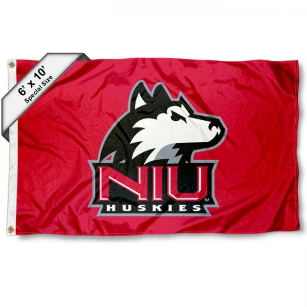 Northern Illinois University 6'x10' Flag measures 6x10 feet, is made of thick poly, has quadruple-stitched fly ends, and NIU Huskies logos are screen printed into the NIU Huskies 6'x10' Flag. This 6'x10' Flag is officially licensed by and the NCAA.