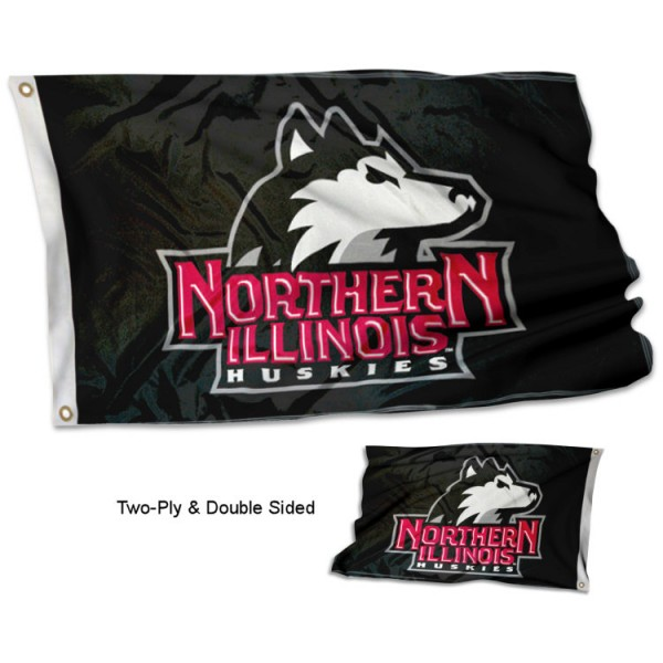 Northern Illinois University Flag measures 3'x5' in size, is made of 2 layer 100% polyester, has quadruple stitched fly ends for durability, and is viewable and readable correctly on both sides. Our Northern Illinois University Flag is officially licensed by the university, school, and the NCAA