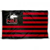 Northern Illinois University Stripes Flag
