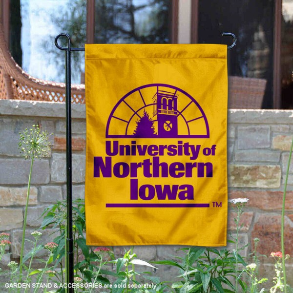 Northern Iowa Panthers Academic Logo Garden Flag is 13x18 inches in size, is made of 2-layer polyester, screen printed university athletic logos and lettering, and is readable and viewable correctly on both sides. Available same day shipping, our Northern Iowa Panthers Academic Logo Garden Flag is officially licensed and approved by the university and the NCAA.