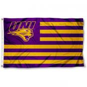 Northern Iowa Panthers Stripes Flag