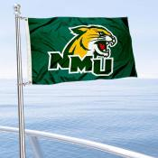Northern Michigan Wildcats Boat and Mini Flag
