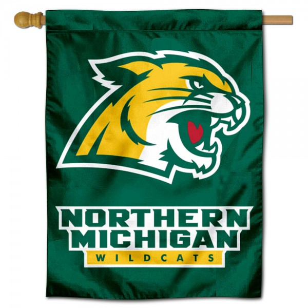 Northern Michigan Wildcats Double Sided House Flag is a vertical house flag which measures 30x40 inches, is made of 2 ply 100% polyester, offers screen printed NCAA team insignias, and has a top pole sleeve to hang vertically. Our Northern Michigan Wildcats Double Sided House Flag is officially licensed by the selected university and the NCAA.
