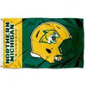 Northern Michigan Wildcats Football Helmet Flag