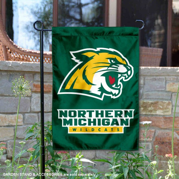 Northern Michigan Wildcats Garden Flag is 13x18 inches in size, is made of 2-layer polyester, screen printed university athletic logos and lettering, and is readable and viewable correctly on both sides. Available same day shipping, our Northern Michigan Wildcats Garden Flag is officially licensed and approved by the university and the NCAA.