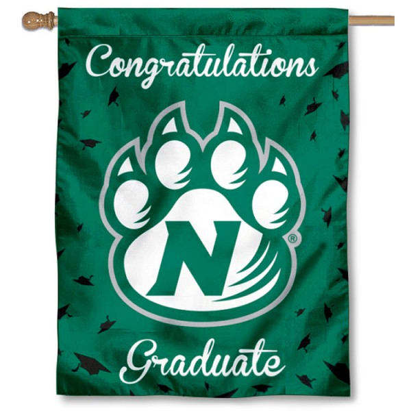 Northwest Missouri State Bearcats Congratulations Graduate Flag measures 30x40 inches, is made of poly, has a top hanging sleeve, and offers dye sublimated Northwest Missouri State Bearcats logos. This Decorative Northwest Missouri State Bearcats Congratulations Graduate House Flag is officially licensed by the NCAA.