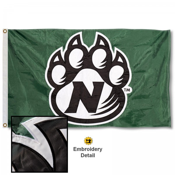 Northwest Missouri State Bearcats Nylon Embroidered Flag measures 3'x5', is made of 100% nylon, has quadruple flyends, two metal grommets, and has double sided appliqued and embroidered University logos. These Northwest Missouri State Bearcats 3x5 Flags are officially licensed by the selected university and the NCAA.