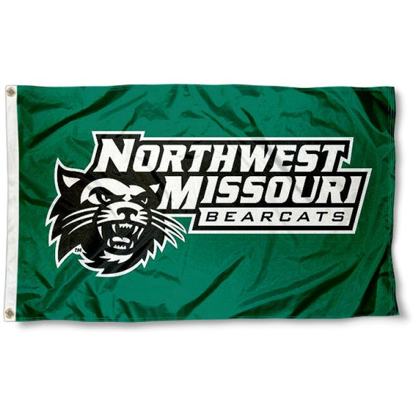 Northwest Missouri State University Flag measures 3'x5', is made of 100% poly, has quadruple stitched sewing, two metal grommets, and has double sided NW Missouri State Bearcats logos. Our Northwest Missouri State University Flag is officially licensed by the selected university and the NCAA.