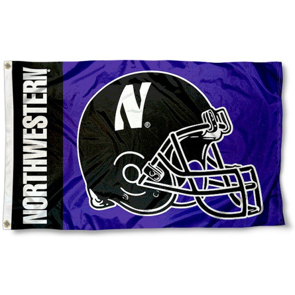 Northwestern College Football Flag measures 3x5 feet, is made of 100% polyester, offers a double stitched perimeter, has two metal grommets, and offers dye sublimated NCAA team logos and insignias. Our Northwestern College Football Flag is officially licensed by the selected university and NCAA